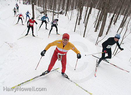 Gatineau Loppet 2010- punishing Penguin Hill!