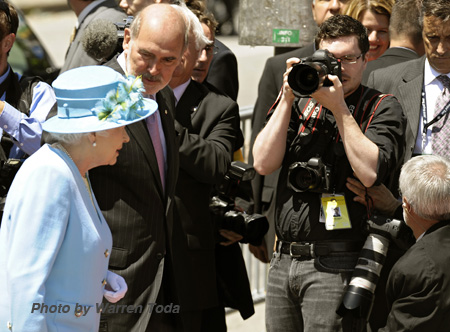 Blair Gable photographing the Queen