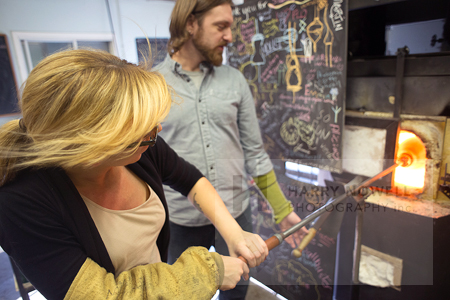Ottawa photo course - glass blowing