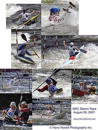 whitewater slalom paddling