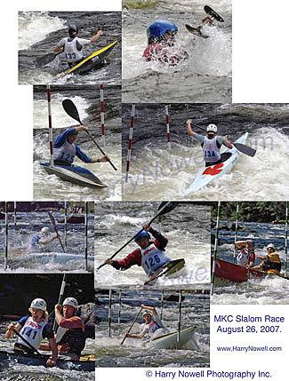 whitewater slalom paddling