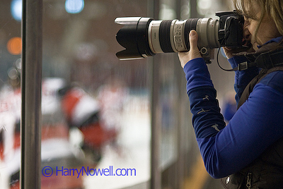 Photographing Pro Hockey - Ottawa Photography Class