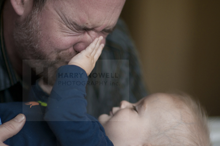 Harry and son photo on the blog