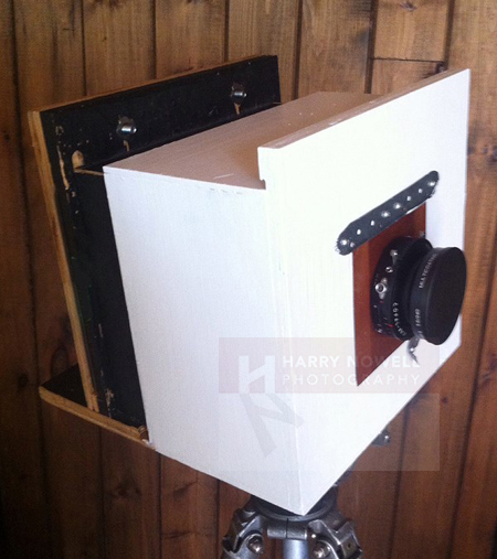 Home-made large format camera.